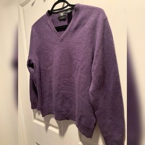 Extra fine merino wool purple CK sweater